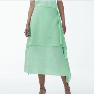 COS PLISSE Cotton Double Layer Skirt sz 44